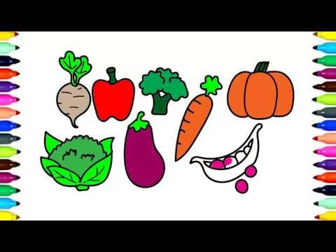 Рисуем фрукты и овощи поэтапно