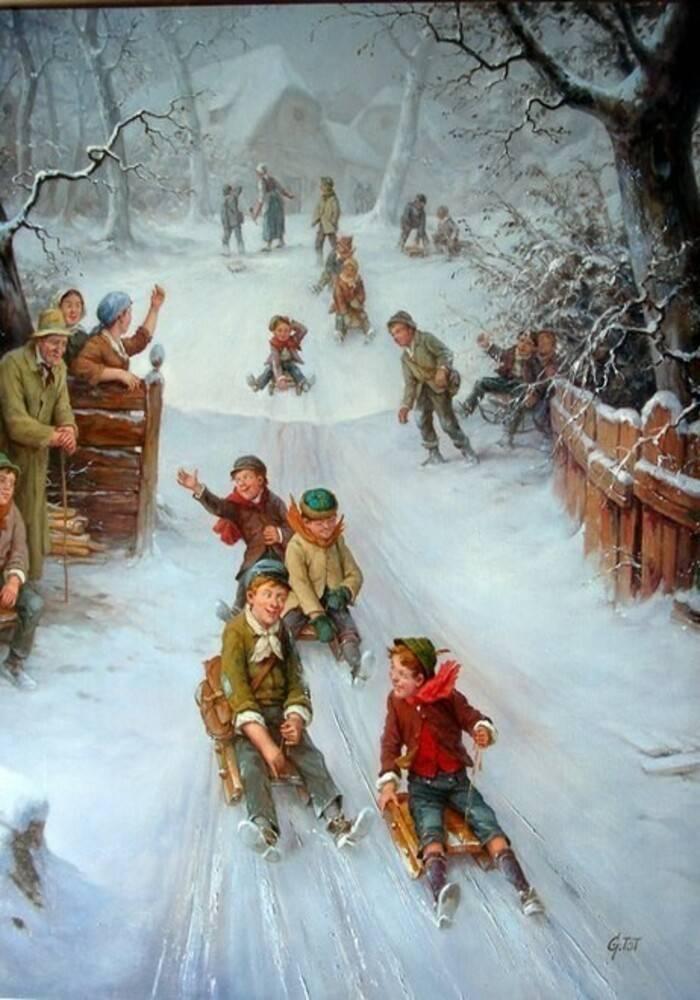 Конспект занятия «зимние игры и забавы» (подготовительная группа)