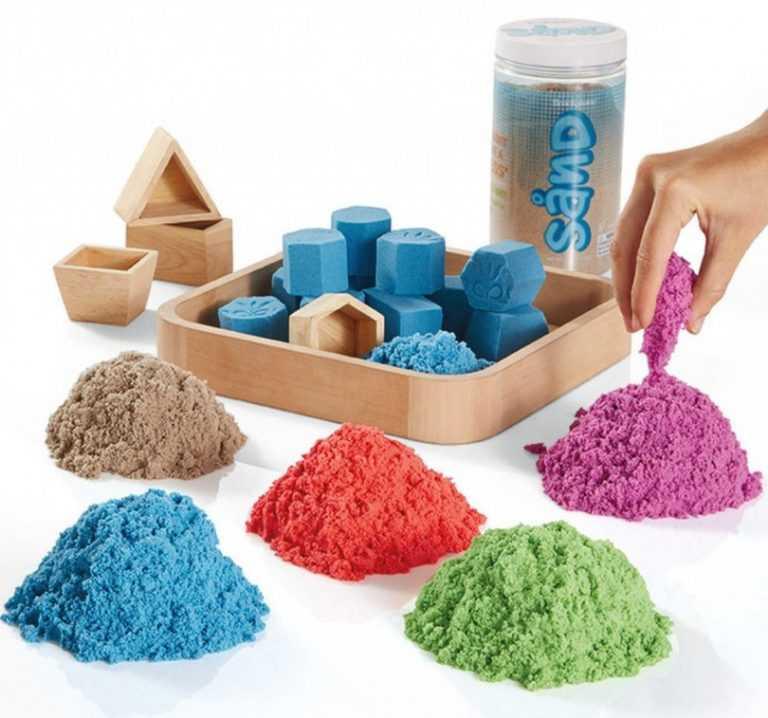 Как сделать кинетический песок своими руками в домашних условиях