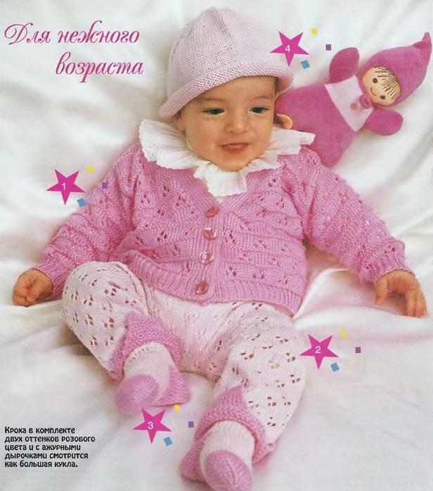 Вязание спицами для детей от 0 до 3 лет: с описанием и схемами