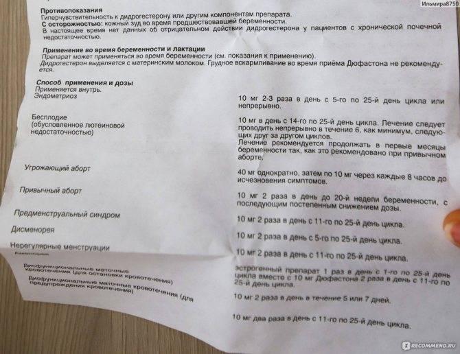 Дюфастон и месячные: не начинается менструация после таблеток