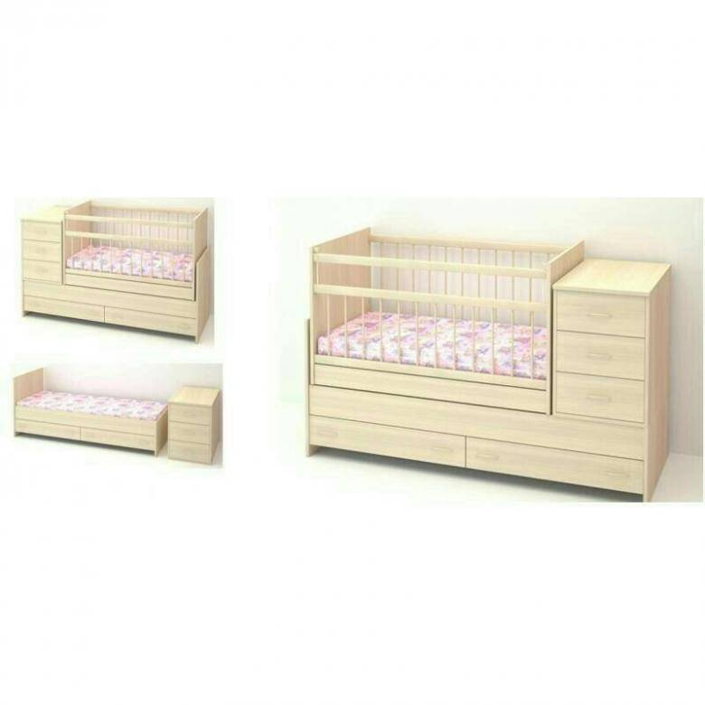 Кроватки-трансформеры для новорожденных (61 фото): детские кровати 8 в 1 с пеленальным столиком, какие бывают размеры, отзывы