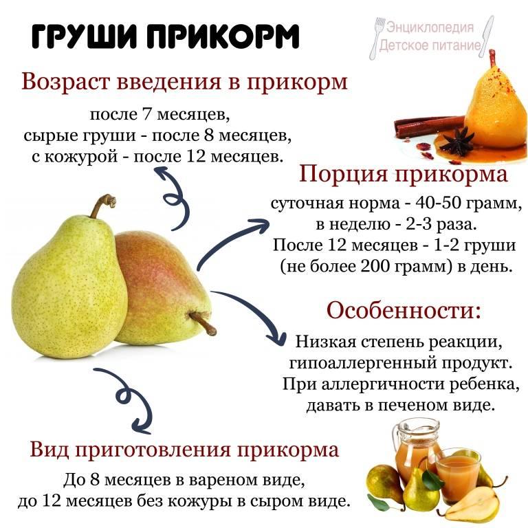 С какого возраста можно давать грушу ребенку? Как сделать грушевое пюре?