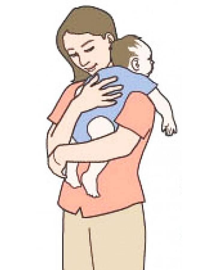 Как носить ребенка столбиком