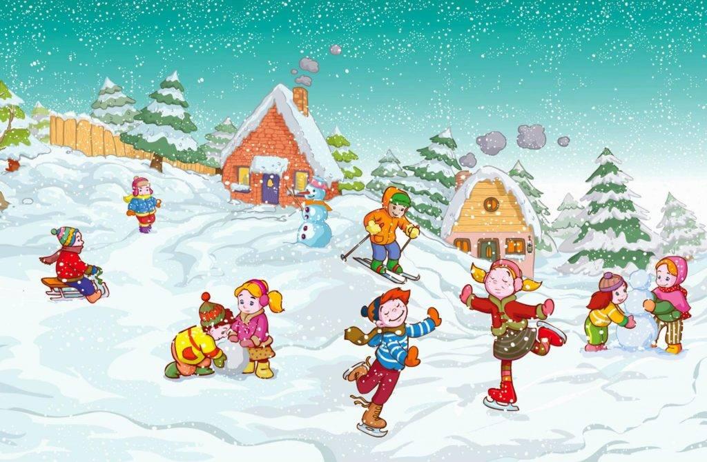 Зимние игры для детей на улице — развлечения со снегом