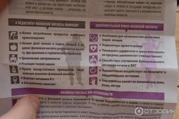 Фолиевая кислота при беременности: назначение, дозировка, рекомендации по употреблению