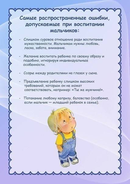 Воспитание мальчиков: советы психолога