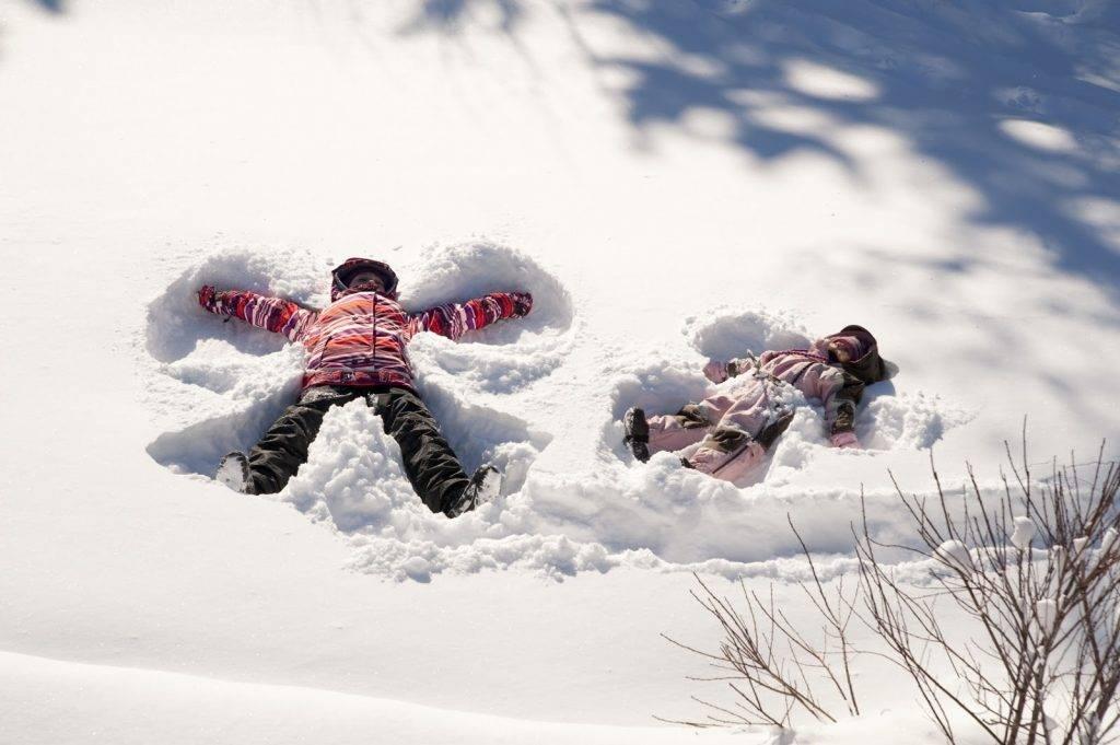 Детские игры и забавы на снегу
