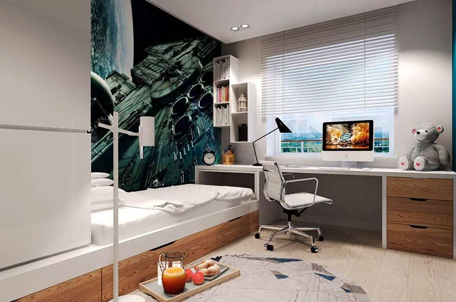 100 лучших идей дизайна: комната для мальчика-подростка, фото