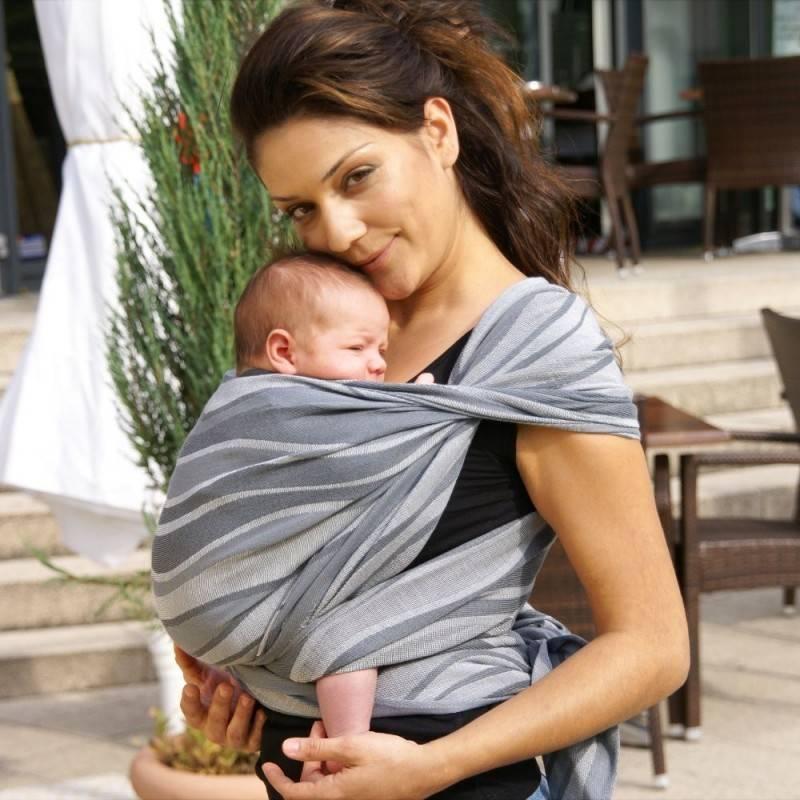 Слинг-шарф для новорожденнных: как выбрать, завязать и сшить дома