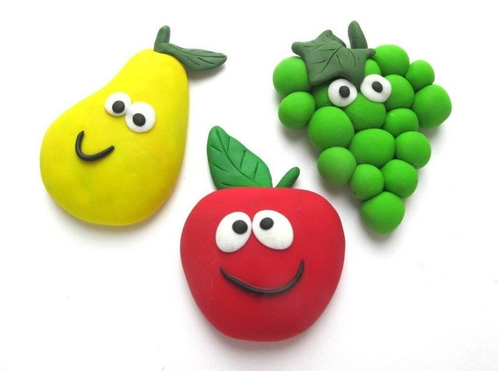 Поделки из пластилина с детьми 4-6 лет