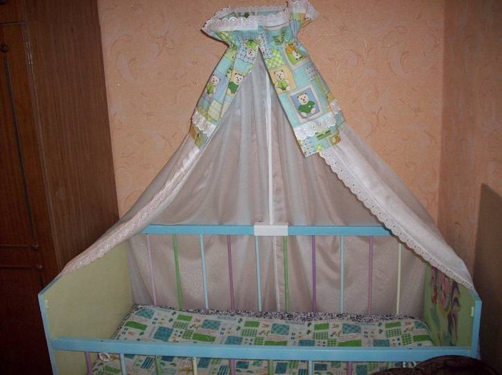 Балдахин на детскую кроватку своими руками: выкройка пошагово с фото