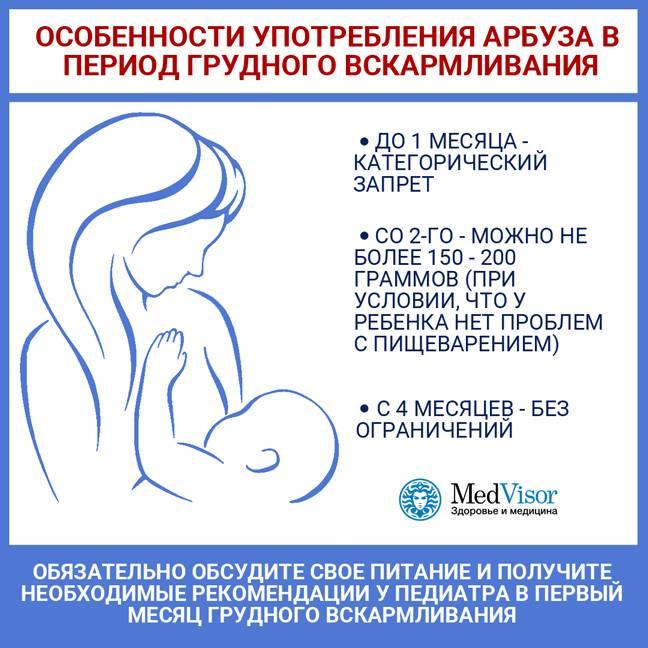 Можно ли арбуз при грудном вскармливании новорожденного: советы и рекомендации мамам