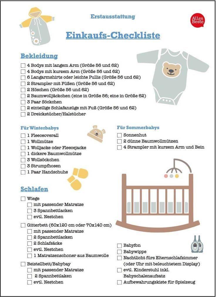 Что купить к рождению малыша или список необходимых вещей для новорождённого