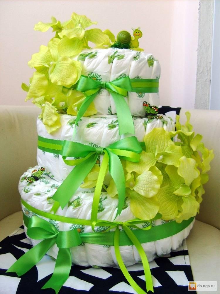 Торт из памперсов как сделать. готовим торт из памперсов своими руками: «рецепты» красивых подарков для мальчиков и девочек