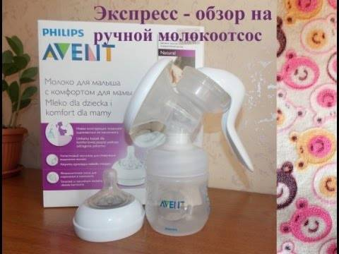 Обзор ручного молокоотсоса Philips AVENT