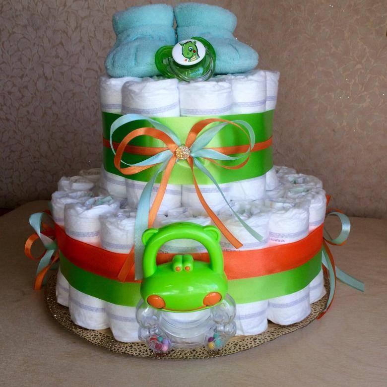 Торт из памперсов для девочки: пошаговые мастер-классы с фото