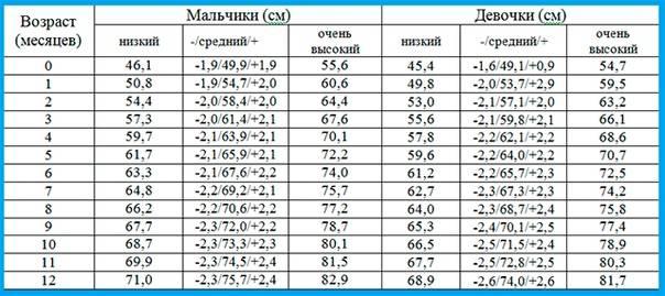 Рост и вес ребенка по годам: таблица с нормами роста и веса до 14 лет