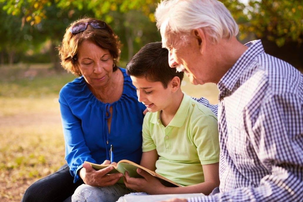 Включение бабушек и дедушек в воспитание детей