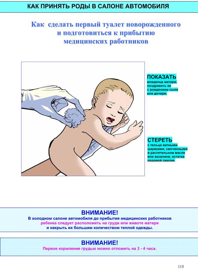 Как провести утренний туалет новорожденного
