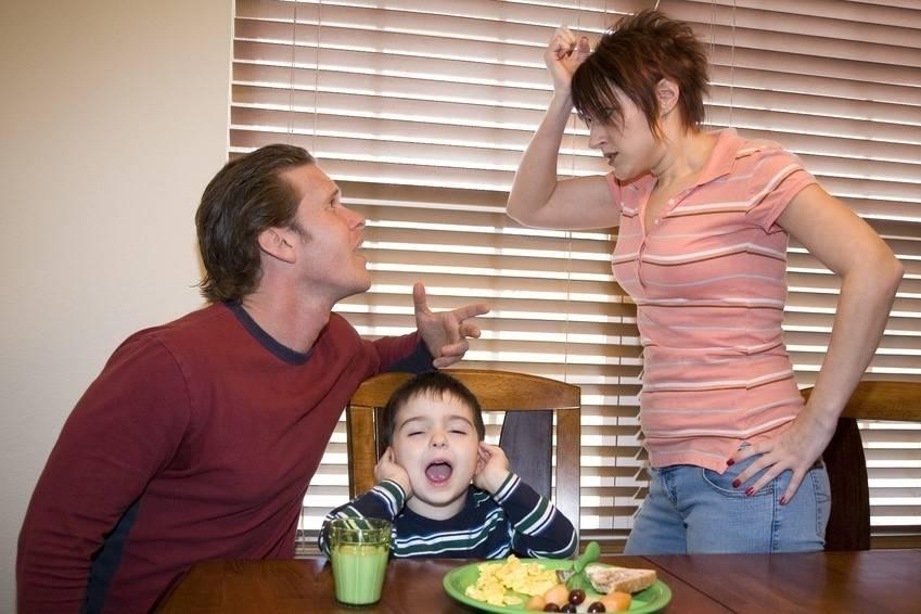 Ссоры родителей в семье при ребенке и недостаток внимания со стороны родителей