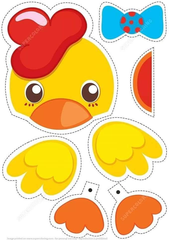 Скачать и распечатать вырезалки — шаблоны аппликации из бумаги для детей
