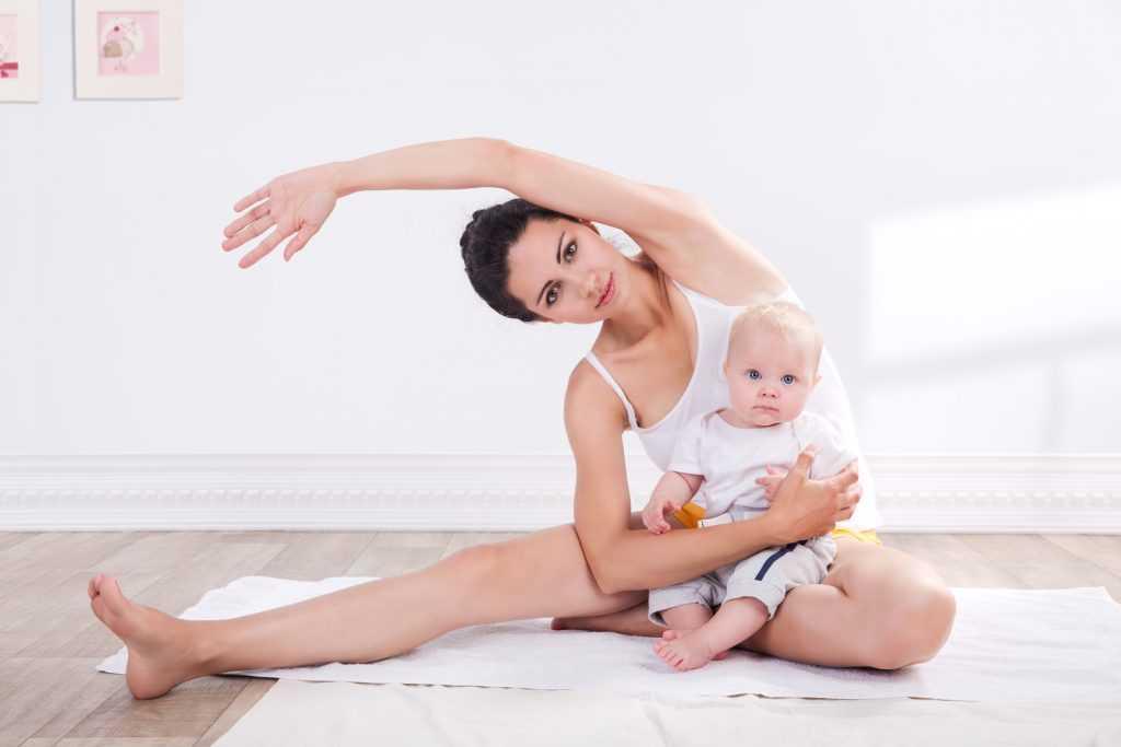 Гимнастика после родов мама+малыш
