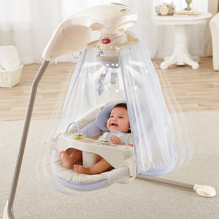 Электронные качели для новорожденных до года