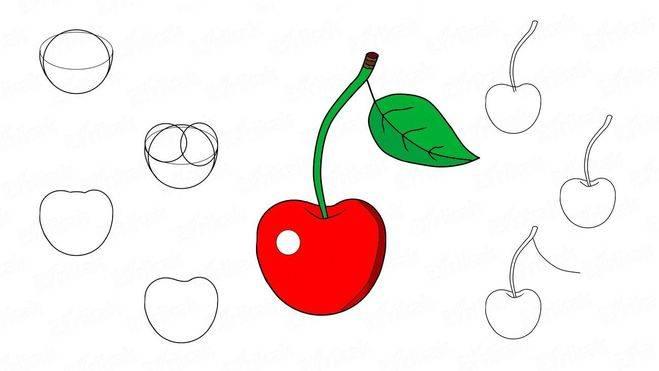 Как рисовать аппетитные фрукты и овощи