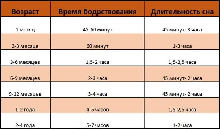 Сколько должен спать ребенок в 5 месяцев: нормы для дня, ночи