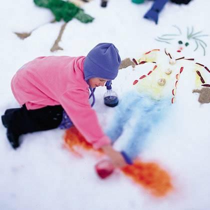 Конспект прогулки в старшей группе «зимние забавы и рисование на снегу»