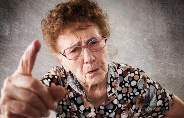 Осторожно, бабушка!