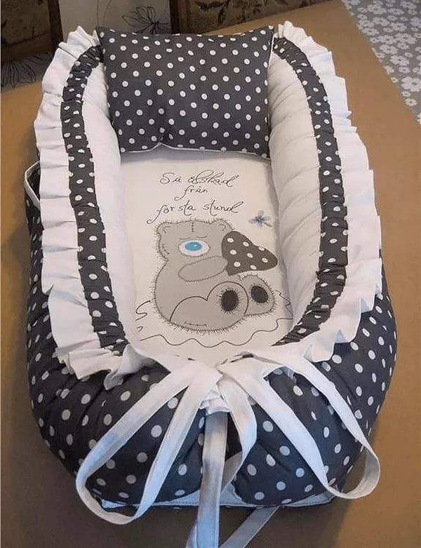 Кокон для новорожденных своими руками: выкройки, как сшить гнездо для малыша и для чего оно нужно