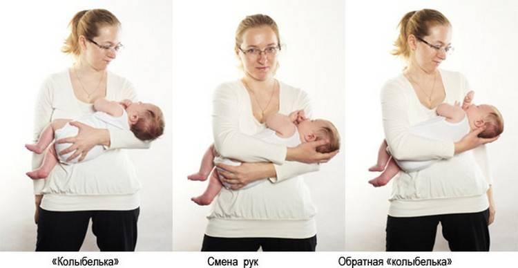 Как правильно держать столбиком новорожденного после кормления