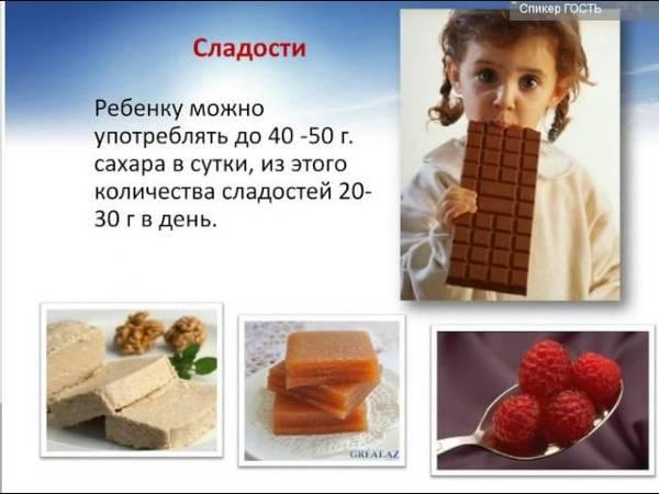 Можно ли детям сладкое, с какого возраста