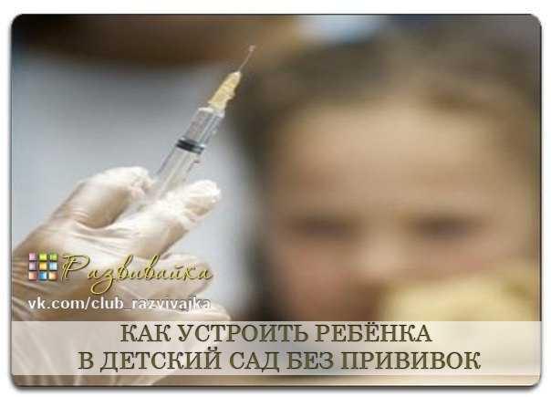 Какие прививки нужны для детского сада
