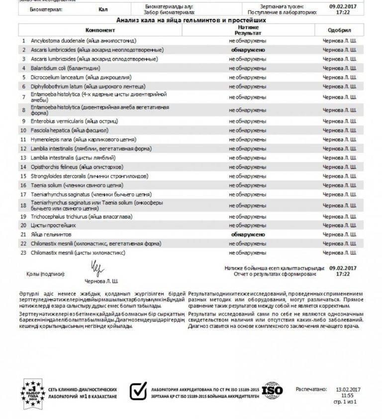 Анализ кала на яйца гельминтов: исследования в лаборатории kdlmed