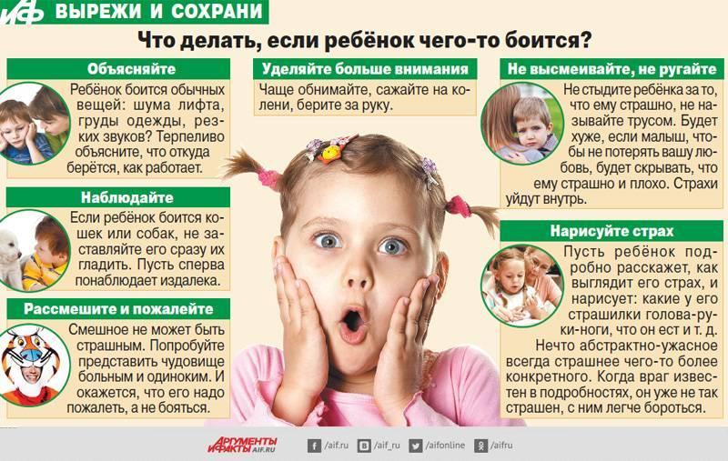 Ребенок всего боится - что делать, когда ребенок в 2-3 года и 5-7 лет боится всего