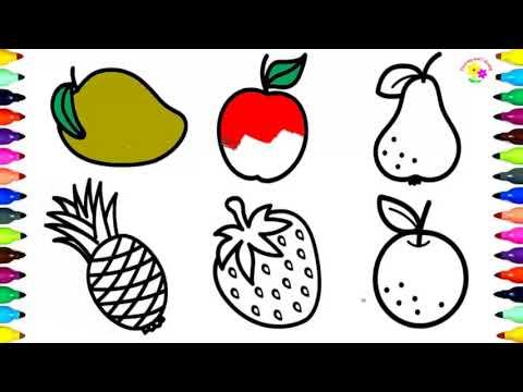 Как рисовать аппетитные фрукты и овощи акварелью пошагово