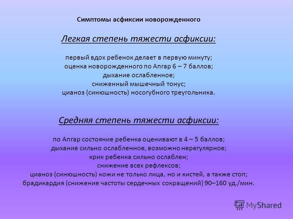 Асфиксия новорожденных - симптомы болезни, профилактика и лечение асфиксии новорожденных, причины заболевания и его диагностика на eurolab