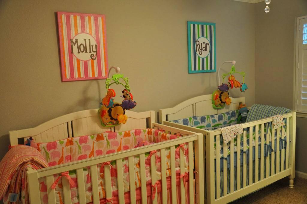 Кровать для новорожденной двойни: фото
