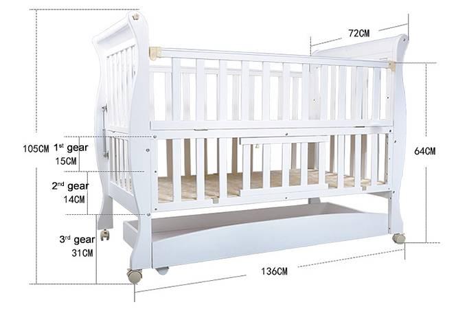 Стандартные размеры детской кроватки: класические габариты кроваток