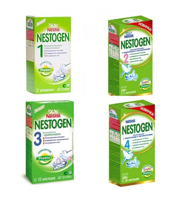 Смесь нестожен для новорожденных: отзывы, состав, как разводить, ассортимент (nestogen 1,2,3,4, низколактозная, 2+)