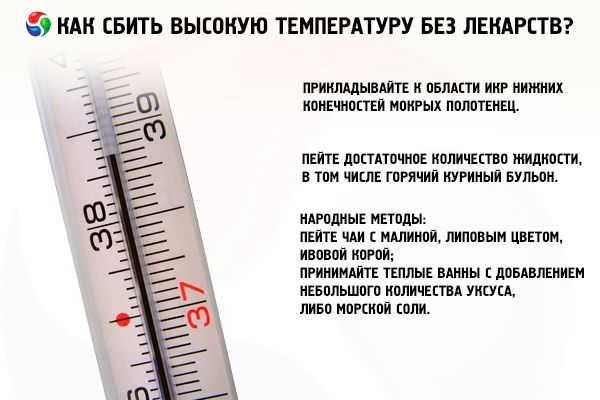 Как сбить температуру?