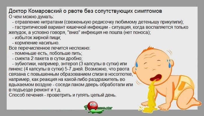 Ребенка тошнит и рвет, температуры и поноса нет