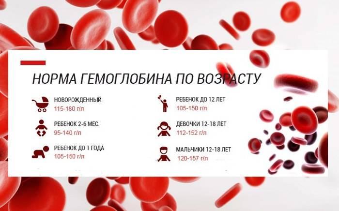 Нормы гемоглобина у детей