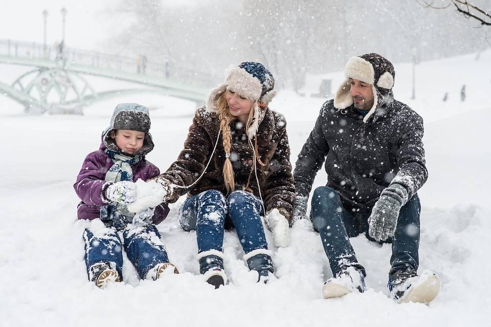 Зимние забавы на улице для детей