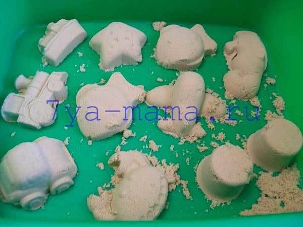 Приемы работы с кинетическим песком в детском саду