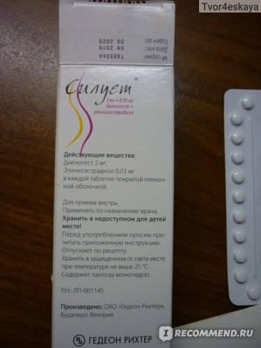 Как пить контрацептивы силуэт (gedeon richter)?
