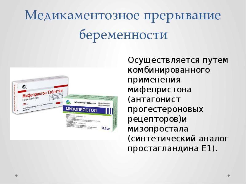 Этапы медикаментозного прерывания беременности